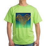 DEC 10TH DAY#344. HEART ? Green T-Shirt