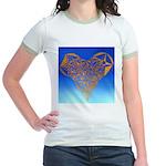 DEC 10TH DAY#344. HEART ? Jr. Ringer T-Shirt