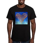 DEC 10TH DAY#344. HEART ? Men's Fitted T-Shirt (da