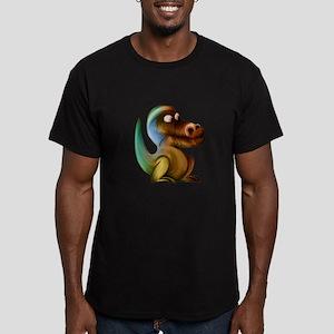 Artistic Dinosaur print Retro Rainbow Vint T-Shirt