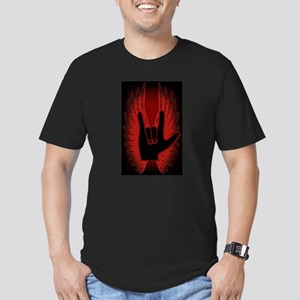 Love Hand Symbol Angel Wings Men's Fitted T-Shirt