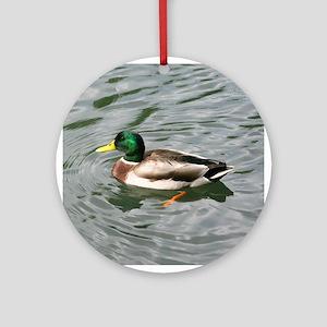 Duck on Pond Ornament (Round)