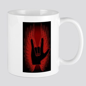 Love Hand Symbol Angel Wings Mug