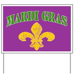 Mardi Gras Banner Yard Sign