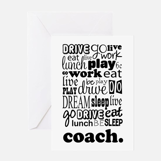 Life Of A Coach Greeting Card
