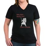 Honor is Forever Women's V-Neck Dark T-Shirt