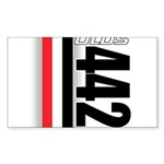 Oldsmobile 442 Rectangle Sticker 10 pk)