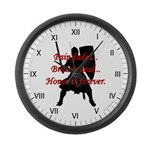 Honor is Forever Large Wall Clock