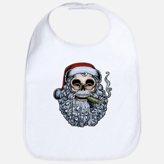 Smokin' Santa Skull Bib