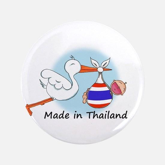 """Stork Baby Thailand 3.5"""" Button"""
