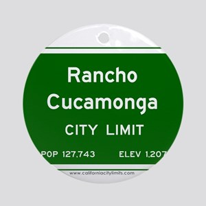 Rancho Cucamonga Ornament (Round)
