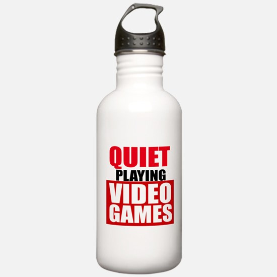Quiet Playing Video Games Water Bottle