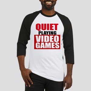 Quiet Playing Video Games Baseball Jersey