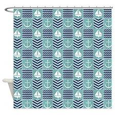 Nautical Quilt Shower Curtain