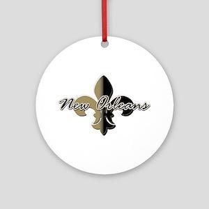 New Orleans Fleur de lis BG Ornament (Round)