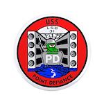 """USS Point Defiance (LSD 31) 3.5"""" Button (100 pack)"""