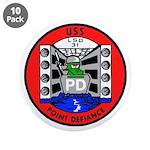 """USS Point Defiance (LSD 31) 3.5"""" Button (10 pack)"""