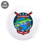 "USS Clarion River (LSMR 409) 3.5"" Button (10 pack)"