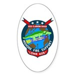 USS Clarion River (LSMR 409) Oval Sticker (50 pk)
