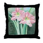 Quiet Time/Pink Amaryllis Throw Pillow