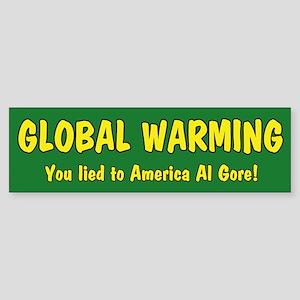 Global Warming Al GoreBumper Sticker