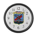 USS Barbero (SSG 317) Large Wall Clock