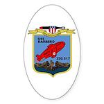 USS Barbero (SSG 317) Oval Sticker (50 pk)