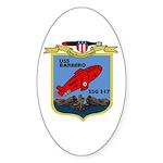 USS Barbero (SSG 317) Oval Sticker (10 pk)