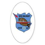 USS Halibut (SSGN 587) Oval Sticker (10 pk)