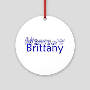 Brittany-bl Ornament (Round)