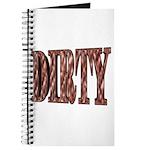 Dirty 3-D Brown Journal