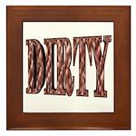 Dirty 3-D Brown Framed Tile
