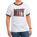 Dirty 3-D Brown Ringer T