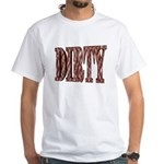 Dirty 3-D Brown White T-Shirt