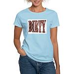 Dirty 3-D Brown Women's Pink T-Shirt