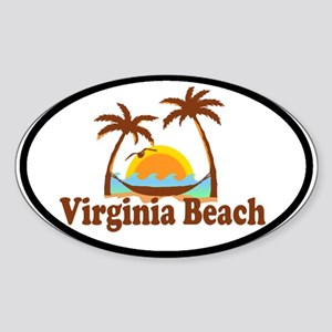 Virginia Beach VA Oval Sticker