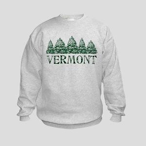 VT Winter Evergreens Kids Sweatshirt