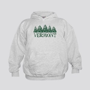 VT Winter Evergreens Kids Hoodie