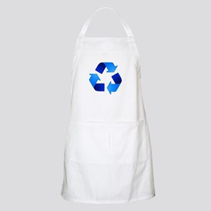 Blue Recycling Symbol Apron