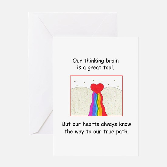 Rainbow Heart Gifts Greeting Card
