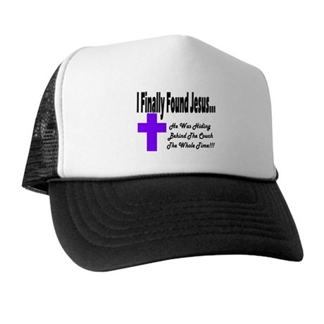 Found Jesus Couch Plain Trucker Hat