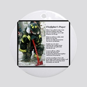 Old Version Firefighter Prayer Ornament (Round)