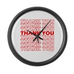 Thank You Large Wall Clock