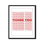 Thank You Framed Panel Print