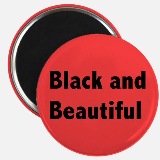 Black and Beautiful Magnet