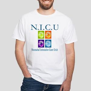 N.I.C.U. White T-Shirt