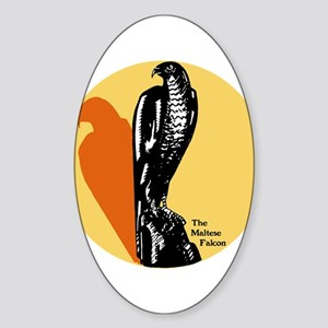 Maltese Falcon Oval Sticker