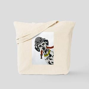 Dalmatian Firefighter Tote Bag