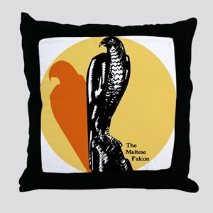 Maltese Falcon Throw Pillow
