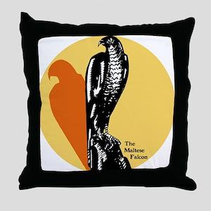 Maltese Falcon Throw Pillow